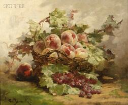 Georges Jeannin (French, 1841-1925)      A Basket of Fruit