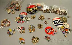 Collection of 19th and 20th Century Political Pinback Buttons