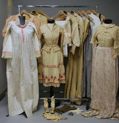 Group of Mostly 19th Century Ladies' Garments