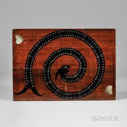 Black-painted and Mother-of-pearl-inlaid Walnut Game Board
