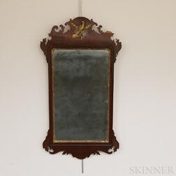 Chippendale Carved and Parcel-gilt Mahogany Scroll-frame Mirror