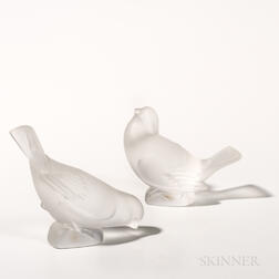 Lalique Sparrow Figures