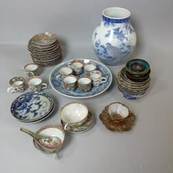 Forty-four Export Porcelain and Cloisonne Items