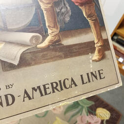 1909 Holland-America Line Lithographed Advertisement