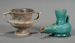 Pottery Lamp and Cup