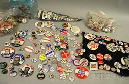 Collection of 1960s and 1970s U.S. Political Pinback Buttons