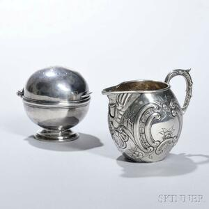 Two Pieces of Continental Silver Hollowware
