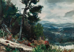 John Whorf (American, 1903-1959)      Guide in the Mountains