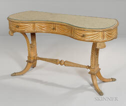 Neoclassical-style Carved Vanity Table