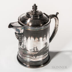 Silver-plated Flagon with Arctic Scene