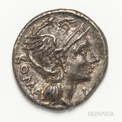 Roman Republic, L. Flaminius Chilo AR Denarius