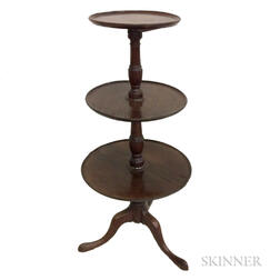 George III Mahogany Three-tier Tripod Dumbwaiter