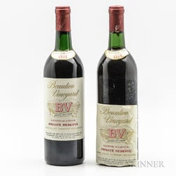 Beaulieu Vineyard Cabernet Sauvignon Georges de Latour Private Reserve 1974, 2 bottles