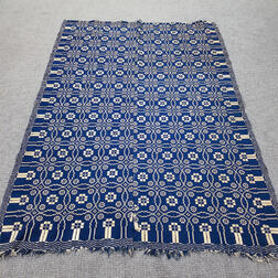 Lover's Knot-design Double-weave Coverlet