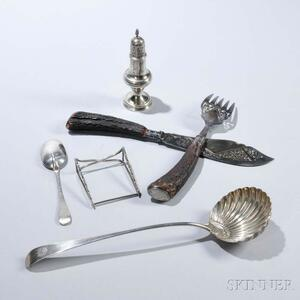 Group of English Sterling Silver Tableware
