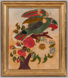 Theorem on Velvet of a Parrot and Flowers