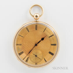 Savoye & Son 18kt Gold Open-face Watch
