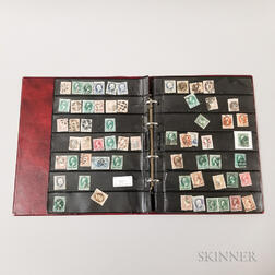 Approximately 185 19th Century Stamps with Fancy Cancellations.     Estimate $20-200