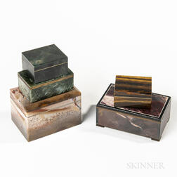 Five Hardstone Boxes