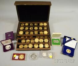 Group of Mostly Sterling Silver Medals, Coins, and Commemoratives