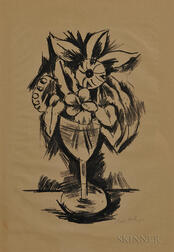 Marsden Hartley (American, 1877-1943)      Flowers in a Goblet #3