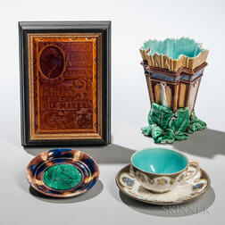 Four Wedgwood Majolica Items