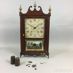 Olcott Cheney Pillar and Scroll Clock
