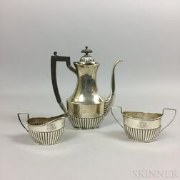 Sterling Silver Three-piece Tea Set