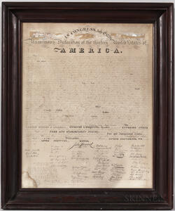 Declaration of Independence  , the First Facsimile Engraving.