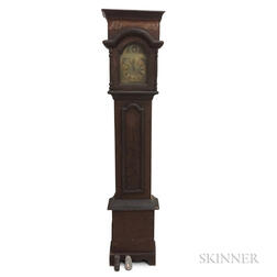 Continental Grain-painted Pine Tall Case Clock