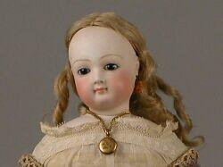 Early French Bisque Head Lady Doll with Wardrobe