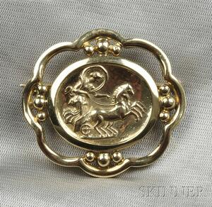 18kt Gold Brooch, Helen Woodhull