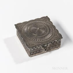 Small Navajo Silver Box by Sunshine Reeves