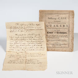 The Suffering-Case of Several of the People Commonly Called Quakers, on Suits Mostly Commenced for Tythes in the Court of Exchequer.