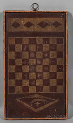 Small Rectangular Paint-decorated Checkerboard