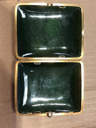 Gold-mounted Jade Cigarette Case