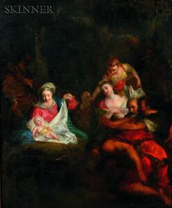 Attributed to Christian Wilhelm Ernst Dietrich (German, 1712-1774)    The Adoration of the Magi