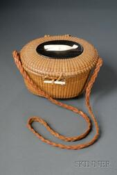 Nantucket Friendship Basket Purse and Biographical Booklet About the Maker