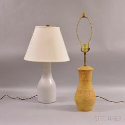 Jane and Gordon Martz Marshall Studios Lamp and a Frey Lamp