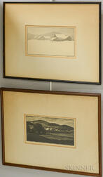 Asa Cheffetz (American, 1897-1965)      Two Framed Wood Engravings: Summertide, Vermont