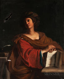Egisto Manzuoli (Italian, 19th Century), After Guercino (Italian, 1591-1666)      Copy of The Samian Sibyl