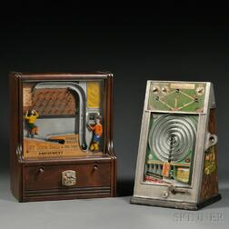 """Two Coin-operated """"Sports"""" Penny Arcade Games"""