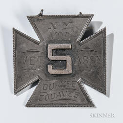 "5th New York ""Duryee Zouaves"" Veteran's Medal"