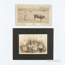 Two Mounted Photographs