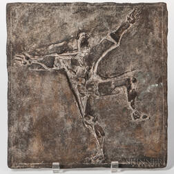 Franz Fischer (1900-1980) Abstract Bronze Relief