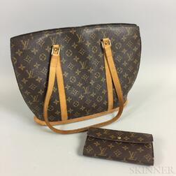 Louis Vuitton Babylone Shoulder Bag and Louis Vuitton Wallet