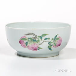 Famille Rose White Porcelain Bowl