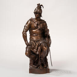 Barbedienne Bronze Model of a Roman Soldier