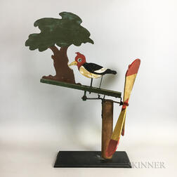 Polychrome Pine Woodpecker Whirligig