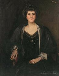 John Lavery (Irish, 1856-1941)    Portrait of Mary Barron Tottie